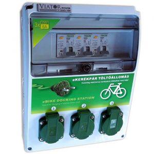 eBike töltőpont elektromos kerékpárok és könnyű-járművek töltéséhez – 3 x 6A