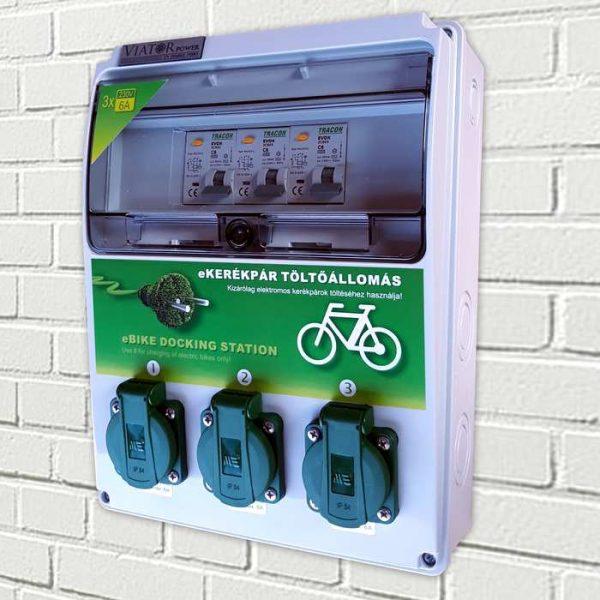 e-bike fali töltőpont